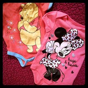 Disney onesie 2 pair
